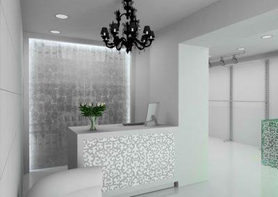 Reforma salón belleza moderno interiorismo diseño