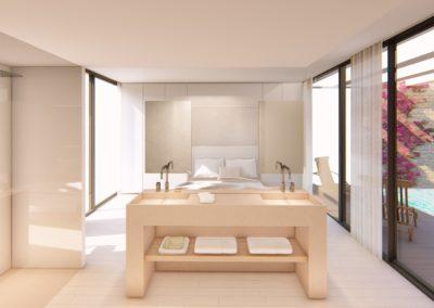 Materiales tierra diseño arquitectura piedra madera vistas diafano minimalista contemporaneo