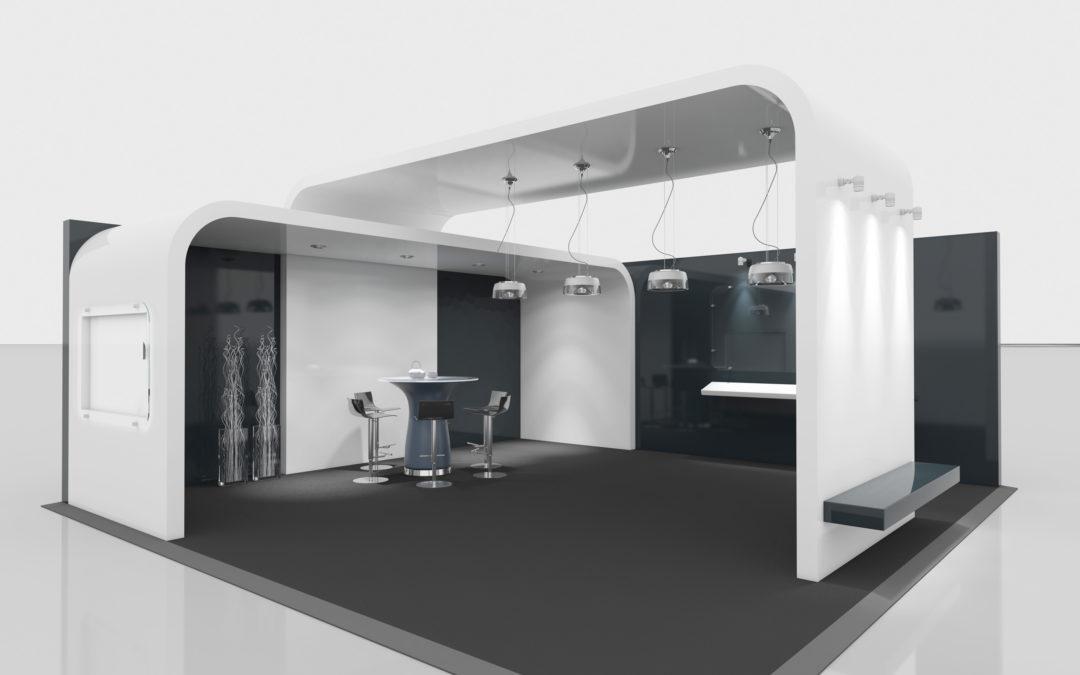 Propuesta diseño stand minimalista , Feria de Madrid