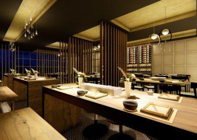 Restaurante interiorismo japones