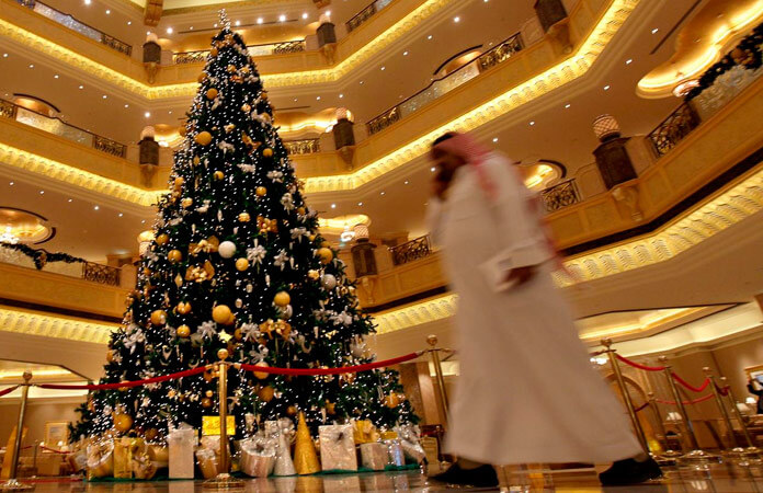 Decoración navideña de oficinas y negocios